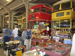 Inside the depot on Gathering Day - Click for a larger photo